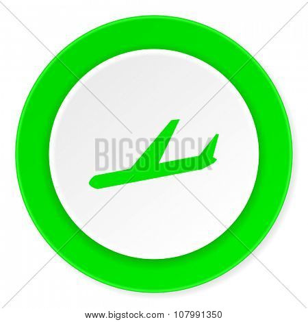 arrivals green fresh circle 3d modern flat design icon on white background