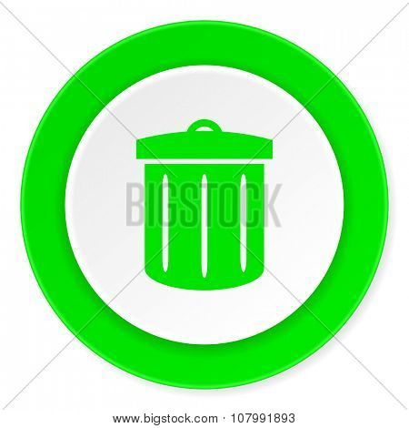 recycle green fresh circle 3d modern flat design icon on white background