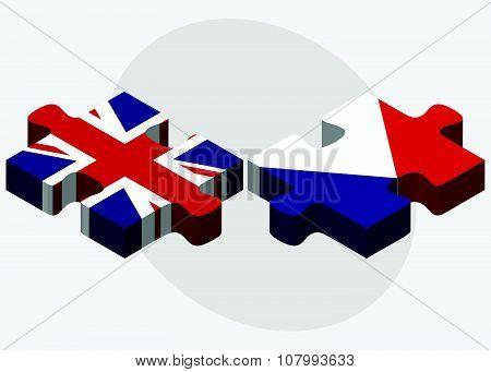United Kingdom And Sint Maarten Flags