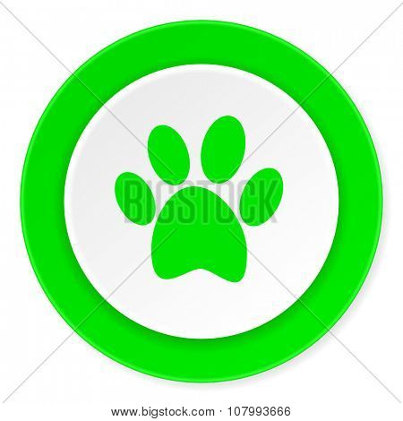 foot green fresh circle 3d modern flat design icon on white background