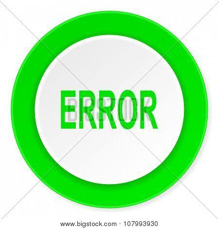 error green fresh circle 3d modern flat design icon on white background