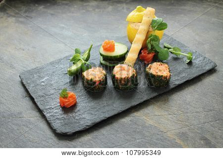 mixed sea trout appetizer