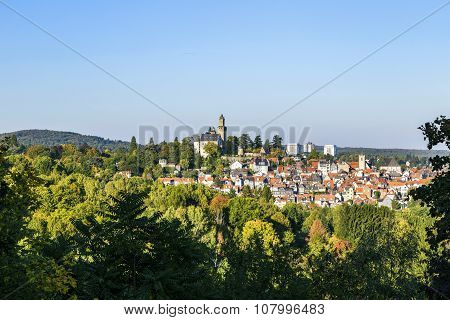 View To Old Town And Castle Of Kronberg