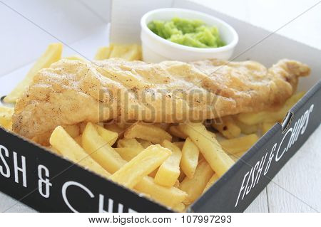 traditional British battered fish and chips
