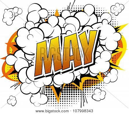 May - Comic book style word