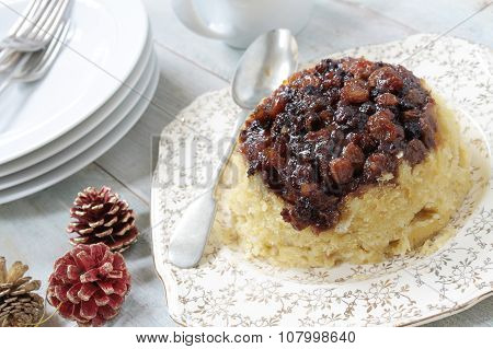 steamed christmas sponge