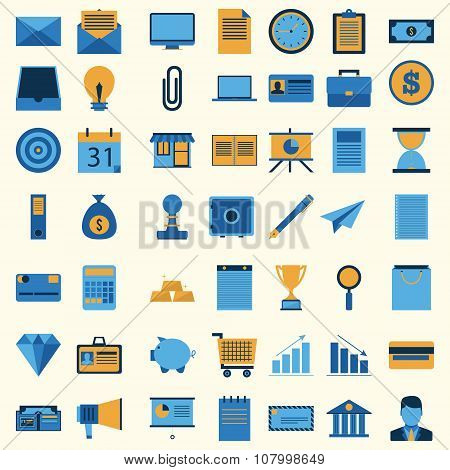 Business icon set collection