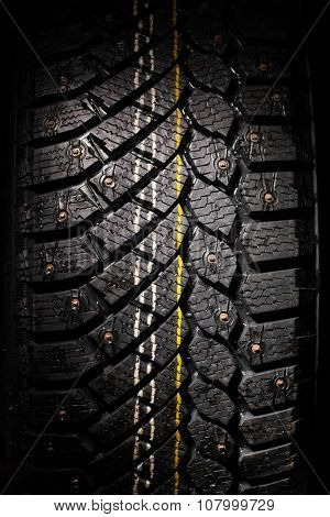 winter tire protector with studs