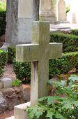 Old cross gravestone