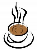 stock photo of coffee-cup  - hot coffee cup illustration in vector format - JPG