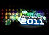 picture of new years celebration  - abstract new year 2011 colorful design - JPG