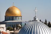 Постер, плакат: Jerusalem church and Dome of the Rock