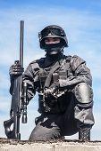 Постер, плакат: SWAT police sniper