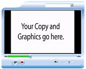 picture of computer-screen  - background for your copy and graphics - JPG