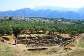 pic of sparta  - view over ancient sparta in peleponnese in grrece - JPG