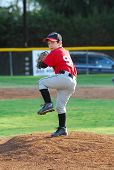 image of little-league  - 7 year old pony league baseball pitcher  - JPG