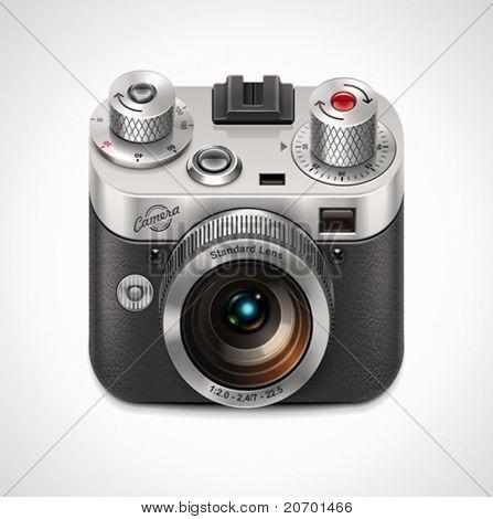 Vector retro camera XXL icon