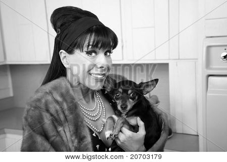Woman With Dog
