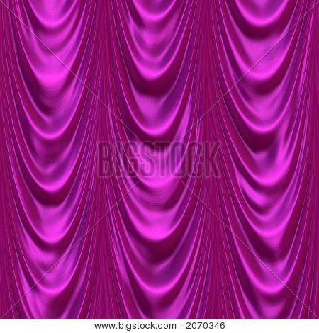 Purple Satin Curtain