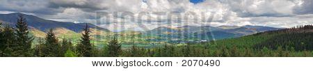Sweeping Mountain Panorama