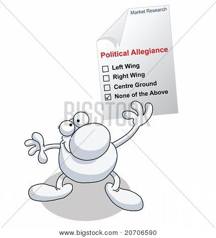 Man research political