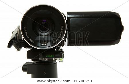 Close Up Of Camcorder Lens