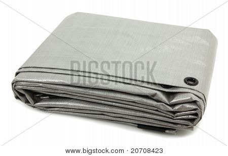 Folded Gray Tarp