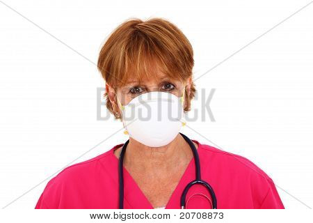 Krankenschwester tragen Maske