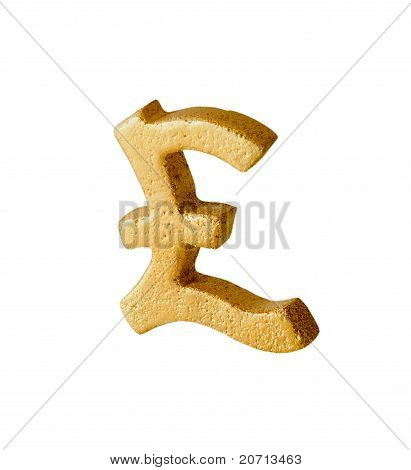 Golden Pound Sterling Symbol