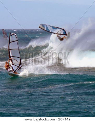 Windsurfer Goes Horizontal