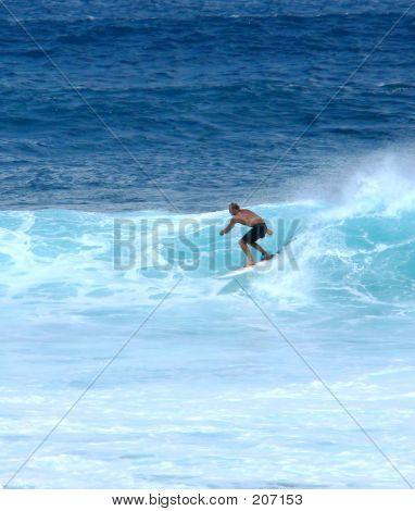Surfer Having Fun