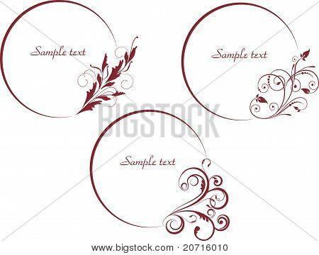 Set of decorative elements for frames