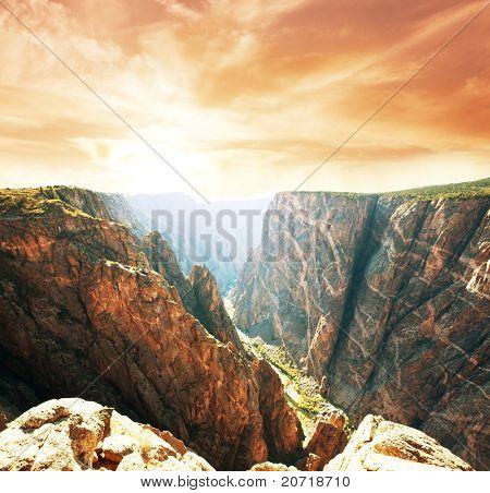Black Canyon de Gunnison National Park paisagens