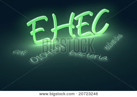EHEC coli bacteria text