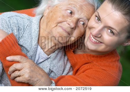 Woman And Her Granddaughter