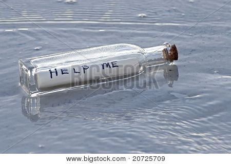 Ayuda mensaje en una botella