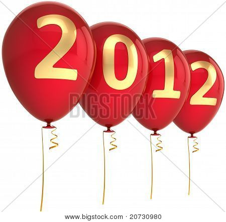 New 2012 Year party balloons