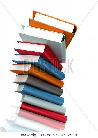 books massive on white background