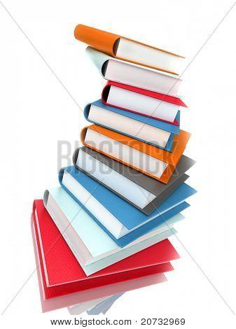 books massive isolated on white