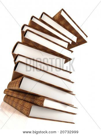 books massive isolated on white #3