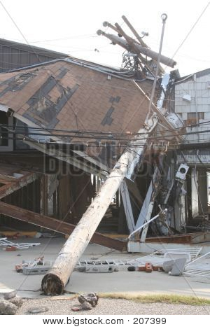 Katrina Aftermath - Crushed Boathouse