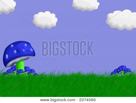 Pilz Landschaft illustration