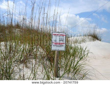 Keep Off Of Sand Dunes Sign