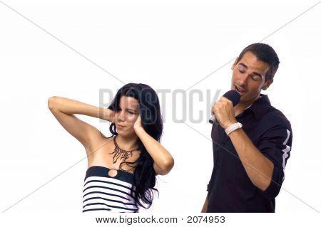 Teen Couple Singing