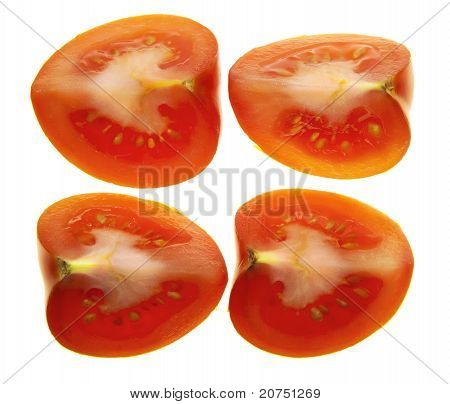Four Quarters Of One Tomato