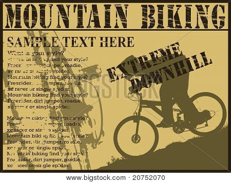 Downhill extreme biking