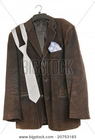 Old Shabby Dirty Velveteen  Jacket