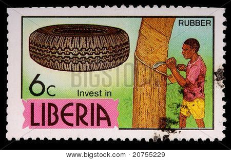 A 6-cent Stamp Printed In Liberia
