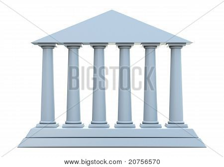 Ancient building with 6 columns