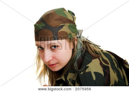 Girl In Camouflage